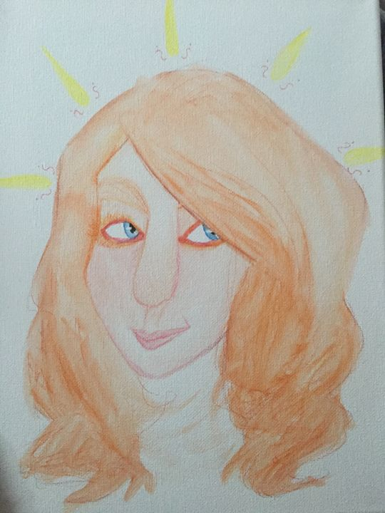 painting of ginger - kellen and braelyns art