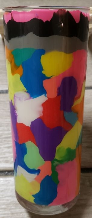 Colorful abstract Mother's Day Vases - Tiffs Designs