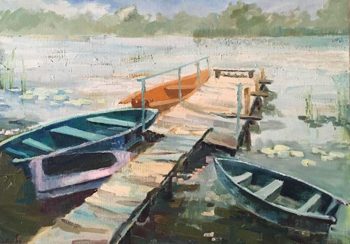 Boats resting time - Elena Voitenko