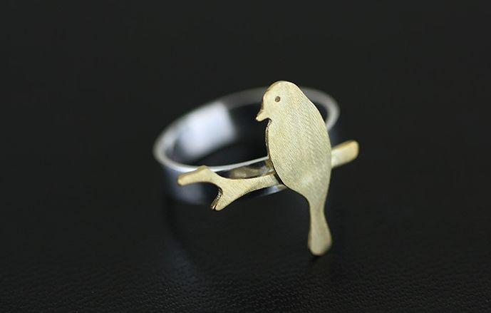 Bird open ring - LovingRings