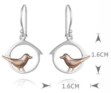 earrings birds - LovingRings