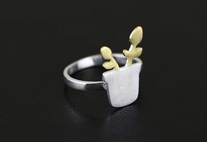 Flower ring, open ring, adjustable