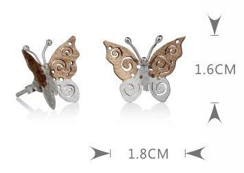 earrings butterfly - LovingRings