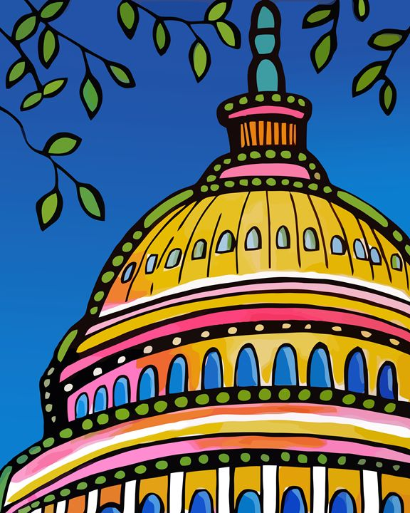 U.S. Capitol Building Dome - Artwork by Lynne Neuman