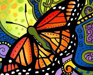 Orange Viceroy Butterfly - Artwork by Lynne Neuman