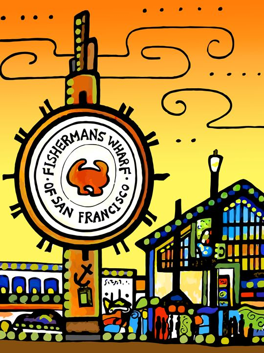 Fisherman's Wharf San Francisco - Artwork by Lynne Neuman