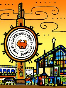 Fisherman's Wharf San Francisco - Artwork by Lynne Neuman