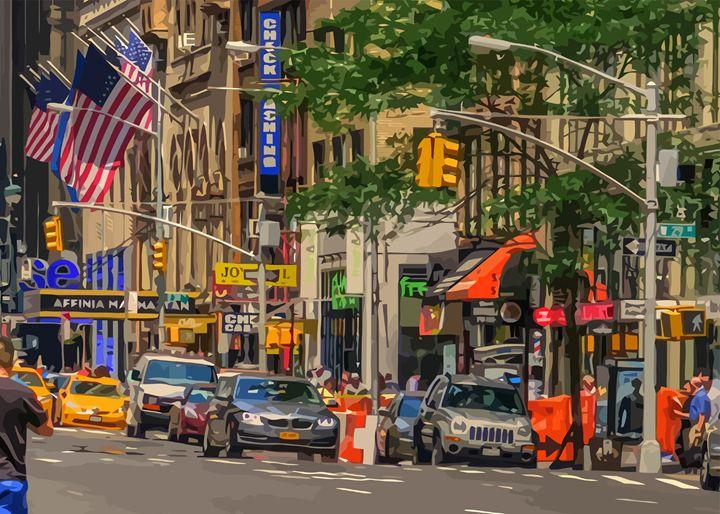 New York City 29th St. - Artwork by Lynne Neuman