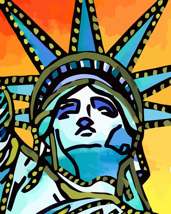Statue of Liberty New York City - Artwork by Lynne Neuman
