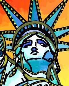 Statue of Liberty New York City - Artwork by Lynne Neuman