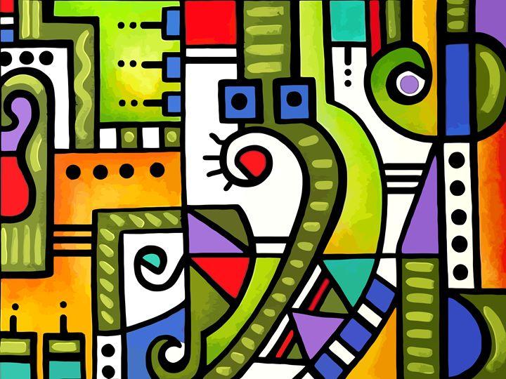 Geometric Abstract #117 - Artwork by Lynne Neuman