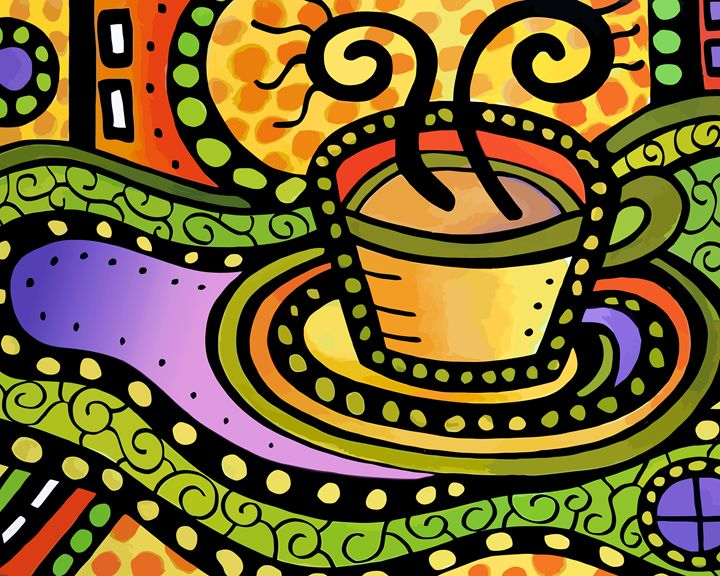 Hot Cup of Coffee - Artwork by Lynne Neuman
