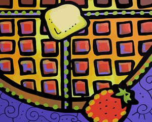 Buttered Waffle - Artwork by Lynne Neuman