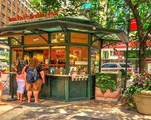 Waffle Stand New York City - Artwork by Lynne Neuman