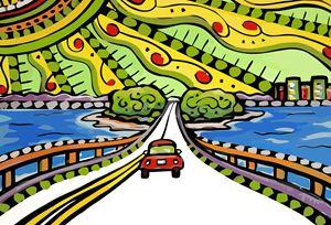Sanibel Florida Causeway - Artwork by Lynne Neuman