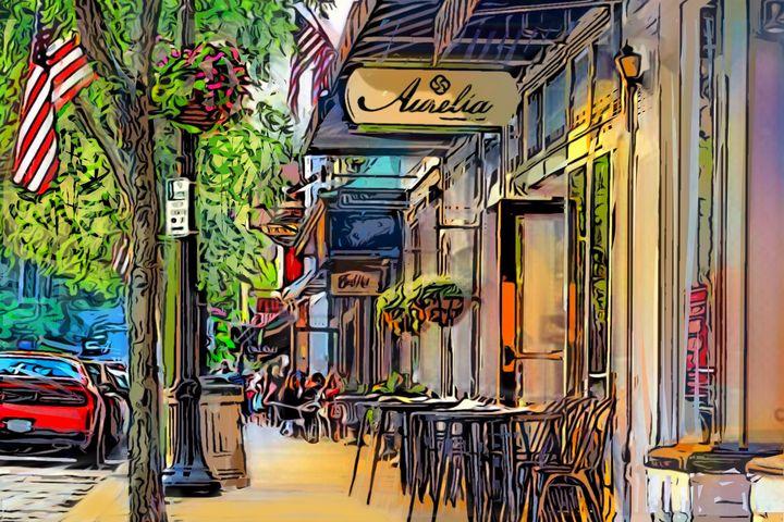 Chagrin Falls Main Street by Aurelia - Artwork by Lynne Neuman