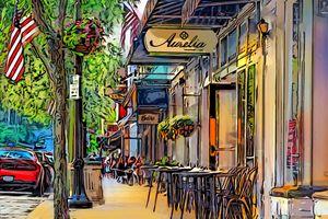 Chagrin Falls Main Street by Aurelia