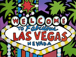 Welcome to Las Vegas Sign - Artwork by Lynne Neuman