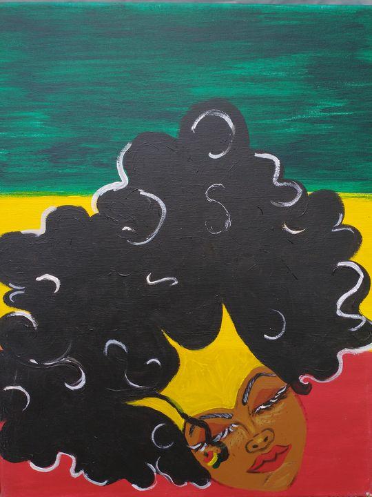 Black beauty - Abstract acrylic paintings