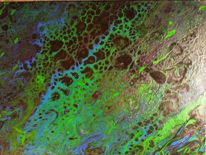Green dragon - Abstract acrylic paintings