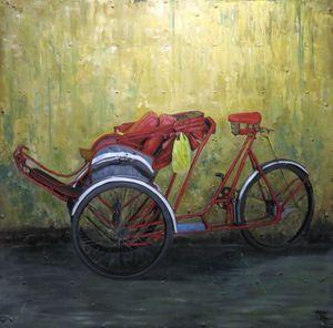 Red cyclo by Võ Văn Diệu