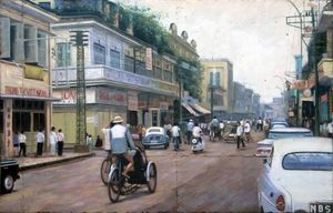 Saigon street by Trần Thanh Phương