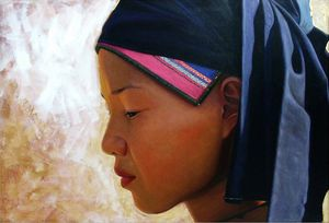 Young girl from Sapa by Trần Văn Thứ