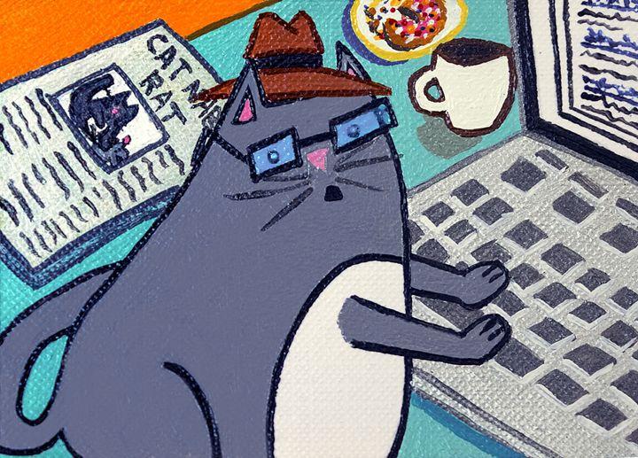 Writer Cat - ArtSempek
