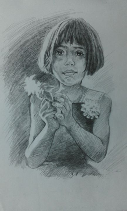 Girl with flower - Rupashree