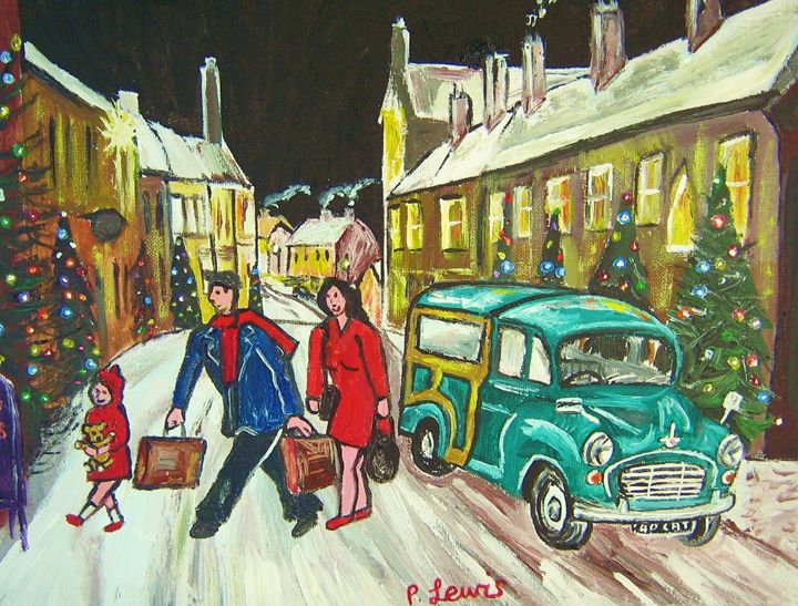 CHRISTMAS HOLIDAY - Phil Lewis -Pictures of Matchstick Men Art