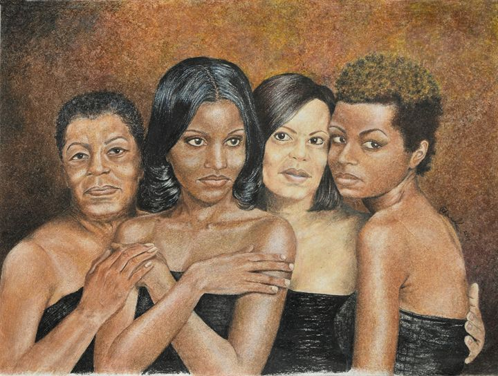 Mother and Daughters - Art by Reggie Chandler