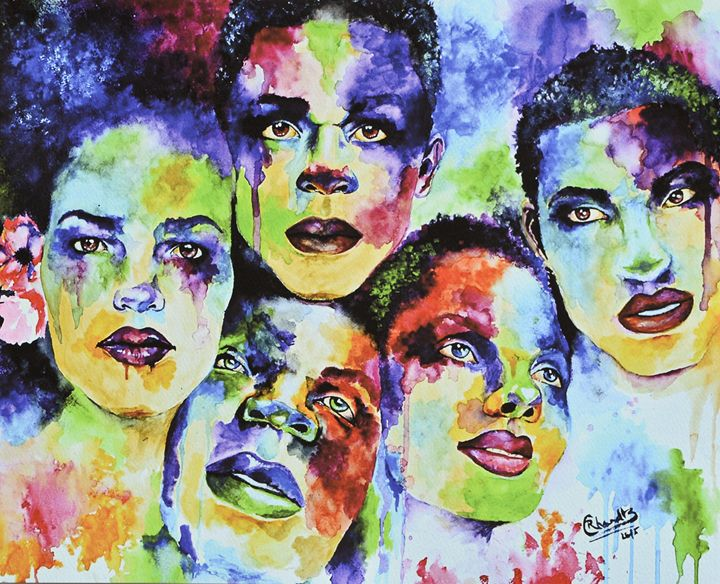 Beautiful People - Art by Reggie Chandler