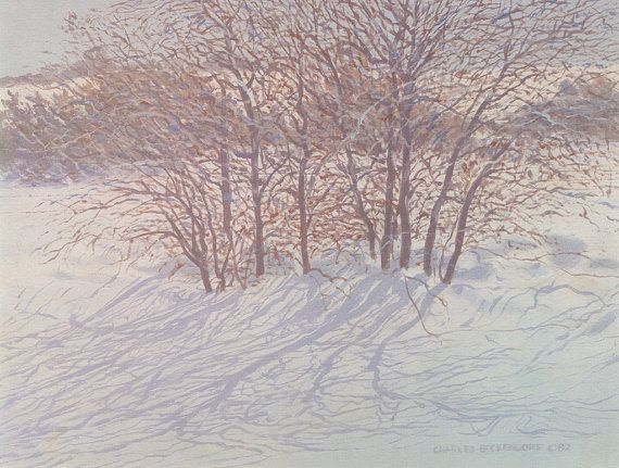 Snow - Trees | Texas Art Prints - Beckendorf Texas Art Gallery