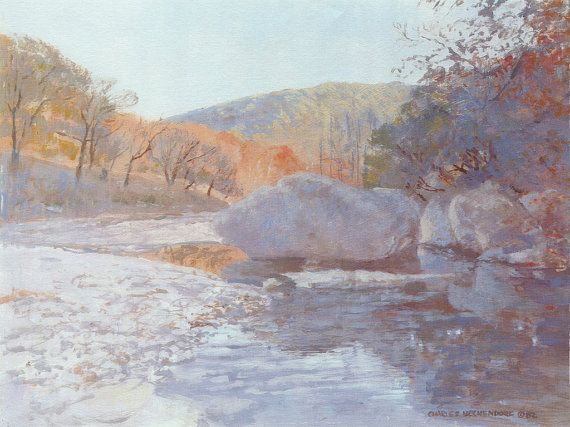 Autumn Stream and Rocks | Texas Art - Beckendorf Texas Art Gallery