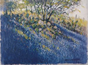 Bluebonnets and Cactus | Texas Art P