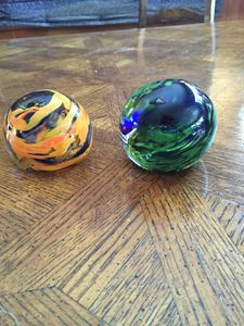 Handmade Glass Blown Paperweights - Serenity