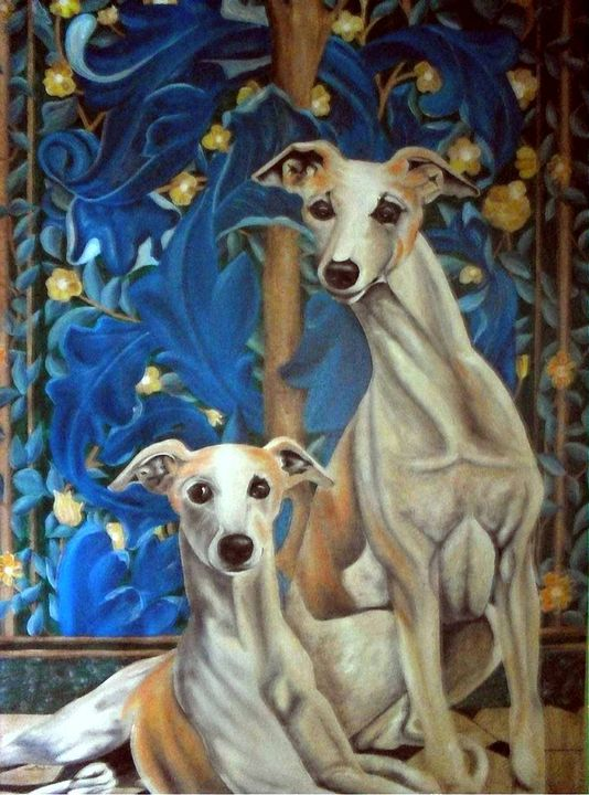 Whippets Resting - CeativeLink