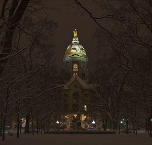 Notre Dame Golden Dome Snow - John Stephens