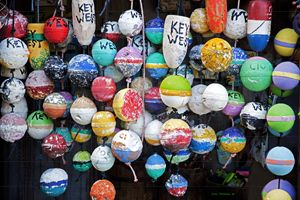 Colorful Key West Lobster Buoys