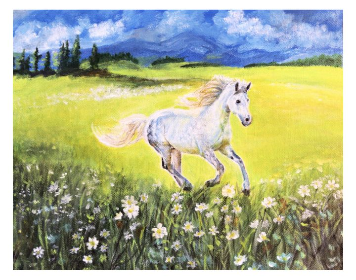 Road to flowers - Mochi's Art Studio