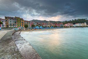 San Terenzo beach.
