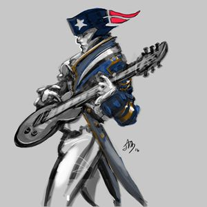 Patriot on guitar