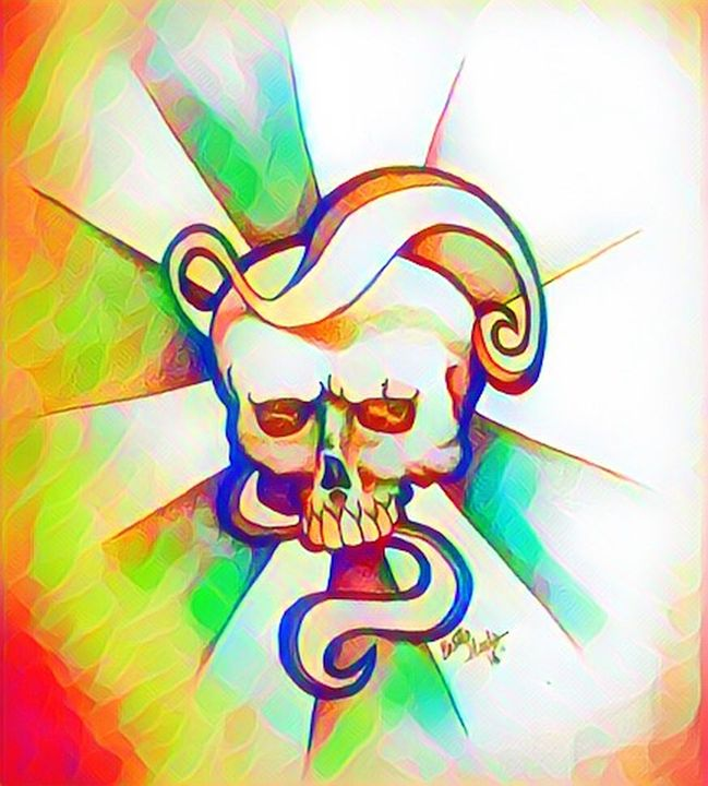 Colour Swirl Skull - TianaArtistic