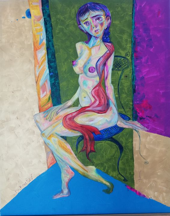 Woman in chair - Krasi Kunchev