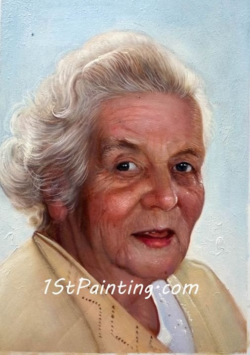 Oil Portrait of Woman - 1St Painting