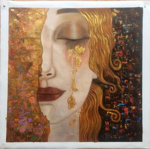 Klimt Oil Painting in Modern Style