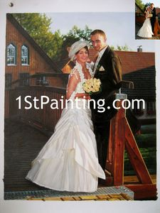 Wedding Oil Portrait Painting
