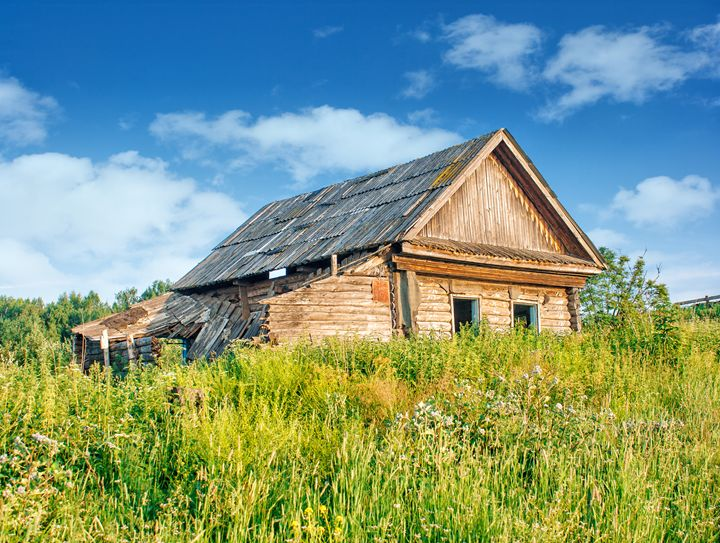 old abandoned wooden house - Radomir