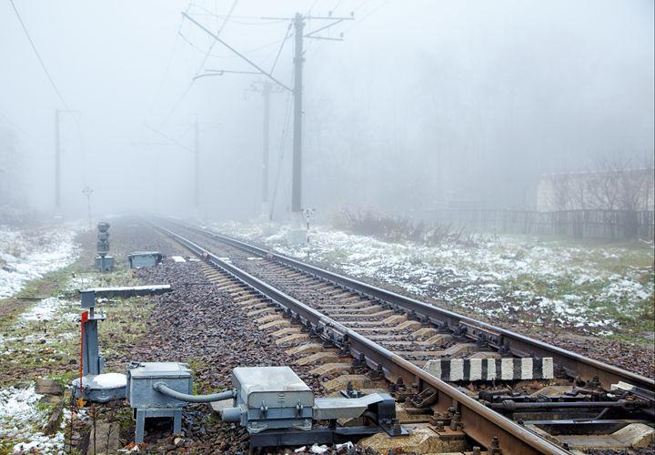 raiway on foggy day - Radomir