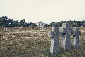 stone crosses in the old cemetery - Radomir
